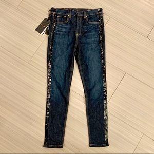 Rag & Bone High Rise Skinny Jeans. Size 28. NWT.